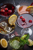 Party cocktails and longdrinks for summer — Stock Photo