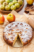 French apple and pear pie — Stock Photo