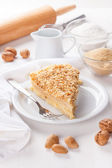 Pancake pie with nuts — Stock Photo