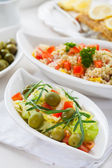 Healthy vegetarian salads — Stockfoto