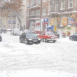 Winter attack in Lublin, Poland — Stock Photo