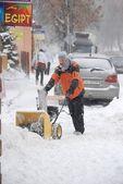 Winter attack in Lublin, Poland — Stock Photo