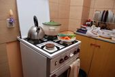 A gas stove — Stock Photo
