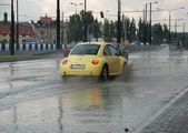 Big rain in Lublin, Poland - July 5, 2013 — Stock Photo