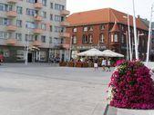 улица города свиноуйсьце — Стоковое фото