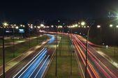 Lublin city night lights — Stockfoto