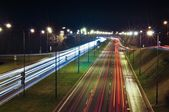 Lublin city night lights — Stock Photo