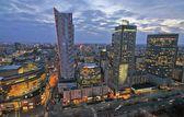 Warsaw city night life — Stock Photo