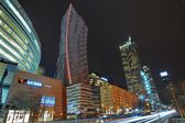 Warsaw city night life — Stock Photo