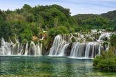 Krka river waterfalls in the Krka National Park, Roski Slap, Croatia — Stock Photo