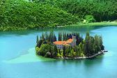 Visovac, monasterio cristiano, croacia — Foto de Stock