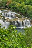 Krka river şelaleleri, roski tokat, hırvatistan milli park krka — Stok fotoğraf