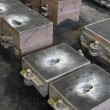 Stock Photo: Foundry, sand molded casting, molding flasks
