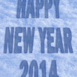 Happy New Year 2014 greeting card — Stockfoto