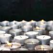 Prayer candles in church — Stock Photo #3377214