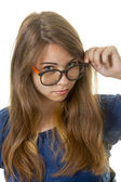 Geeky girl — Stock Photo