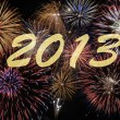 New year firework 2013 — Stock Photo