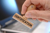 Certification — Stock Photo