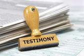 Testimony — Stock Photo
