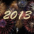 Stock Photo: New year firework 2013
