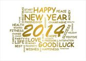 Word cloud new year 2014 — Stock fotografie