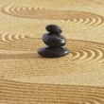 Japanese Zen garden — Stock Photo