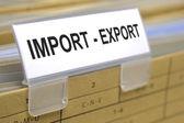 Importazione esportazione — Foto Stock