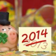 Talisman for new year 2014 — Stock Photo