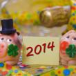 Stock Photo: Talisman for new year 2014