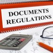 Stock Photo: Regulations and documents