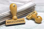 Regras e regulamentos — Foto Stock