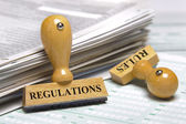 Rules and regulations — Foto Stock