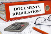 Regulations and documents — Стоковое фото