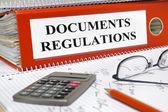 Vorschriften und dokumente — Stockfoto