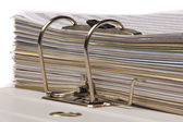 Documents in folder — Stock Photo