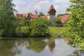 City Dinkelsbuehl in bavaria — Stock Photo