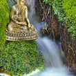 Buddha figure in cascade — Stock Photo