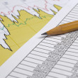 Finance and chart — Stock Photo