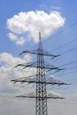 Electric power pole — Stockfoto