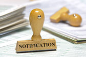 Notification — Stock Photo