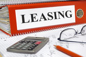 Leasing contracts in folder — Stock Photo