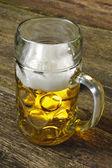 Bavarian beer in mug — Stock Photo