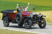 Oldtimer car rally — Stockfoto