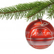 Christmas ball isolated — Stock Photo