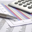 Business finance chart — Stockfoto