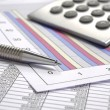 Stock Photo: Business finance chart