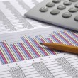Business finance chart — Stock Photo