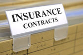 Insurance contracts — Stock Photo