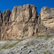 Panorama of dolomite mountains — Stock Photo
