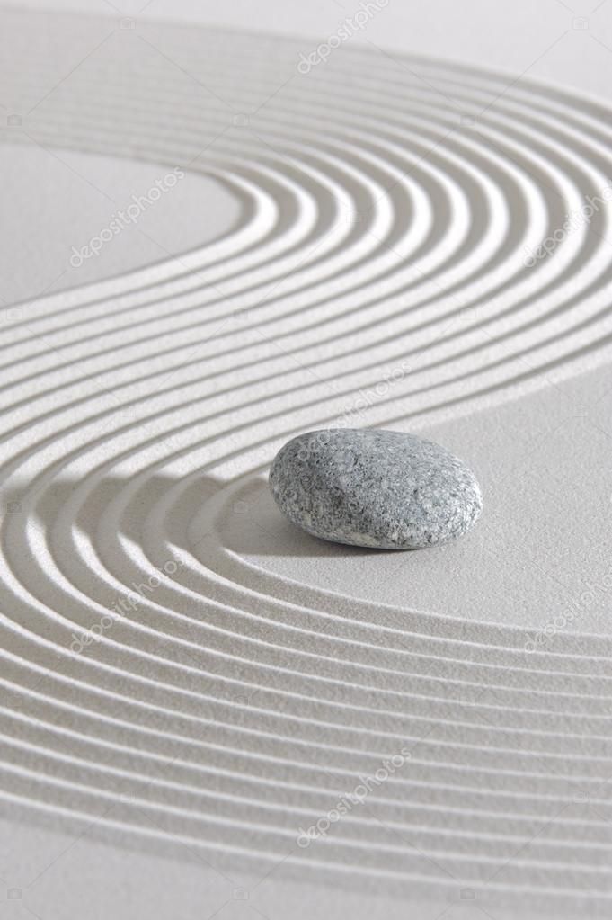 Jardim zen japonês com yin e yang — Fotografia de Stock #35538717